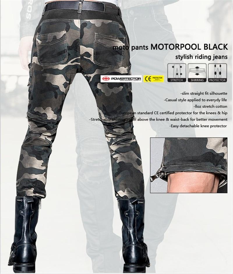 Najnowsze mody przypadkowi dżinsy spodnie jeansowe kamuflaż - Akcesoria motocyklowe i części - Zdjęcie 2