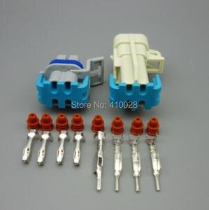 Image 4 - Shhworldsea 5/30/100 sets o2 산소 센서 연장 하네스 ls1 ls2 4 핀 스퀘어 4 핀 ls1 산소 o2 센서 4 방향 커넥터