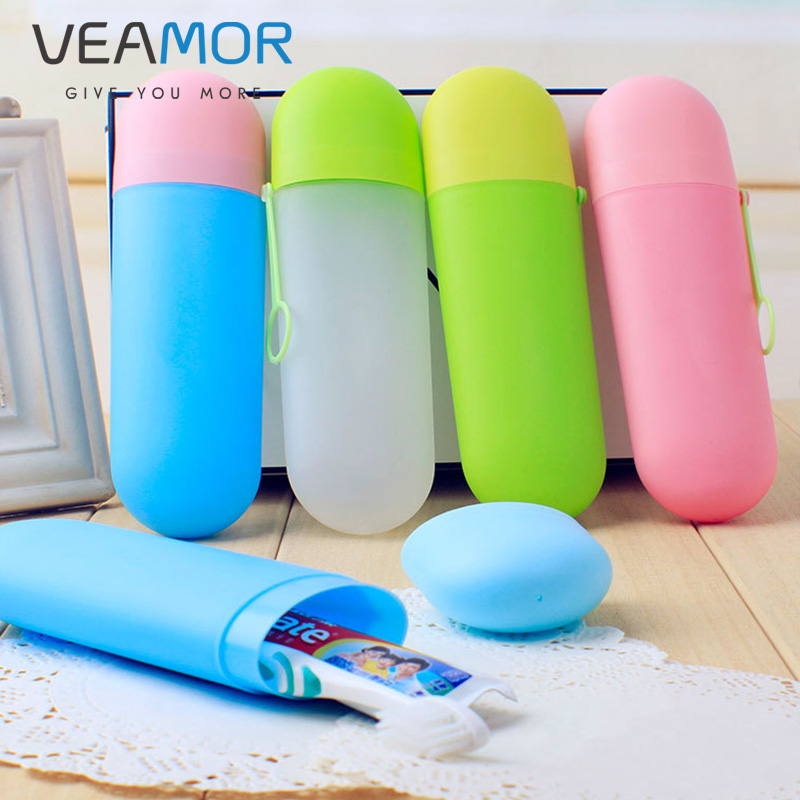 VEAMOR 4pcs / set Portable Toothbrush Cover Outdoor Travel Hiking - Barang dagangan isi rumah