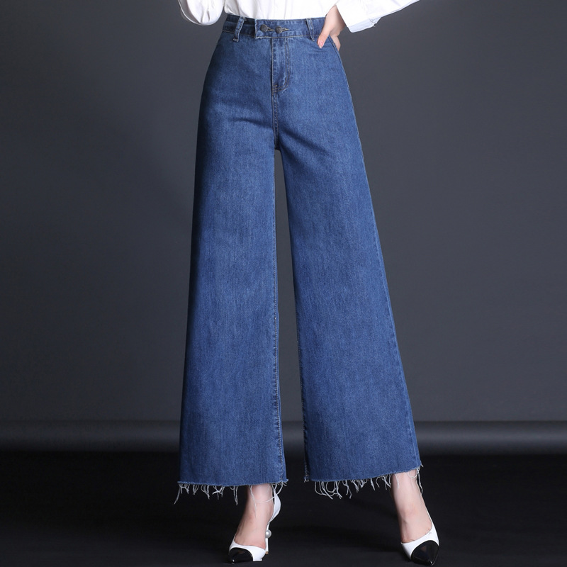 Женские рваные джинсы-стрейч с вышивкой, узкие прямые синие джинсы, Уличная Повседневная Женская одежда, 1MA101-106