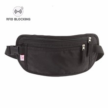 Artmi Mens RFID Fanny Pack Travel Sport Waist Mini Bumbag Waterproof, Black