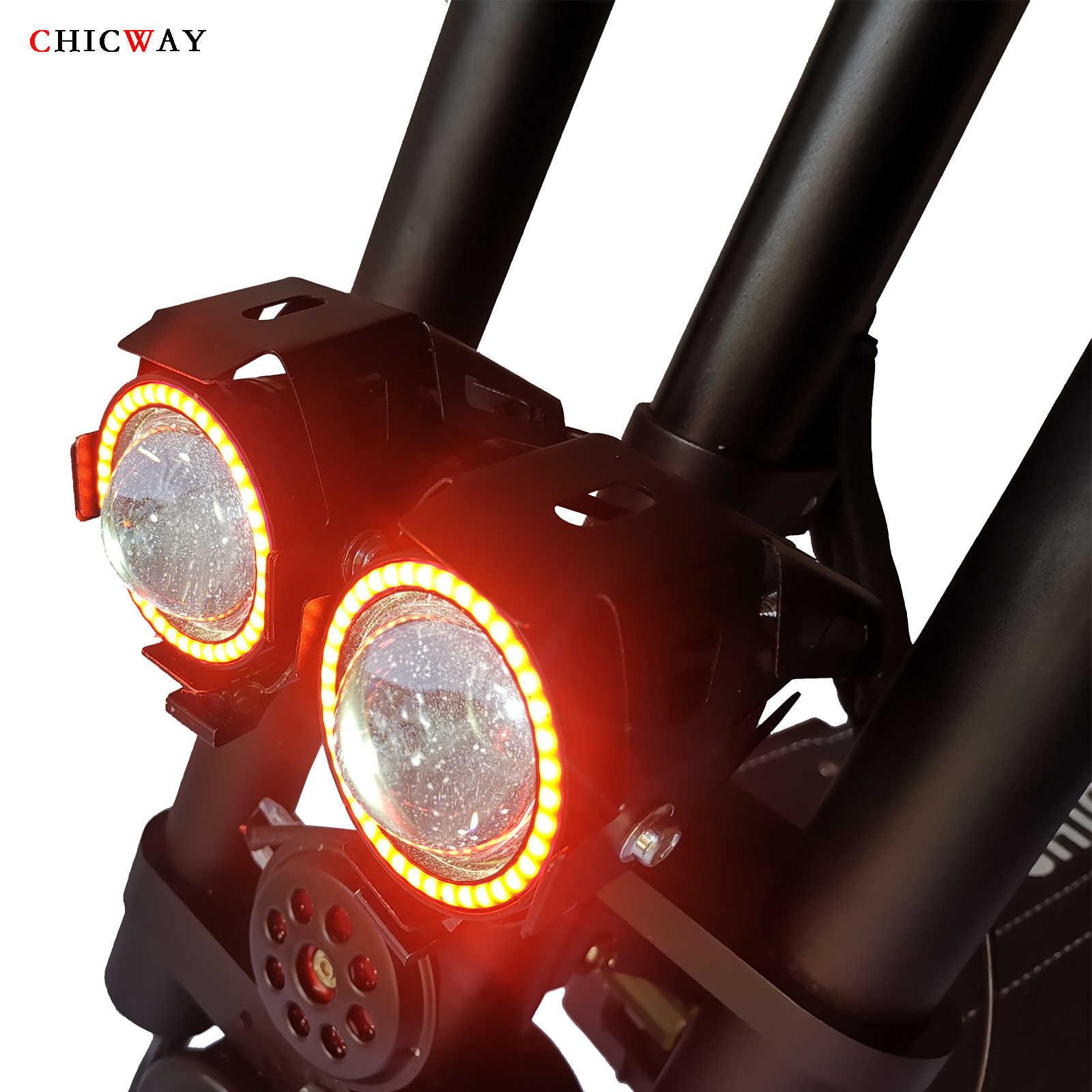 "CHICWAY باتمان محرك مزدوج سكوتر كهربائي 11 ""3200 W المحرك ، سرعة 80 كجم/+ ، تعليق مستقل ، ممتص الصدمات الهيدروليكي ، 35AH"