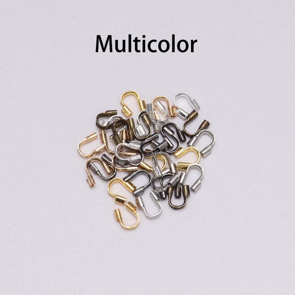 200pcs//Box Bronze Brass Wire Guardian Findings U-Buckles Wire Guard Protectors