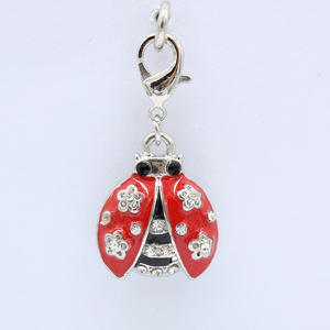 Chang hai zuixi new classic fashion DIY sweet lobster clasp jewelry pendants ladybug products