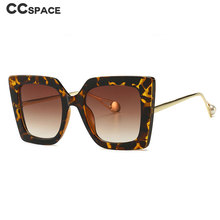 Ретро в форме кошачьих глаз солнцезащитные очки с жемчугом мужские и женские Модные Оттенки UV400 Винтажные Очки 46110