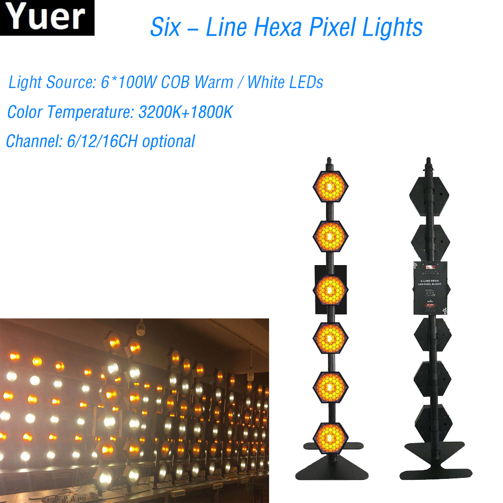 Six-Line Hexa Pixel Lights Retro Flash Stage Light For Christmas Party Holiday Colorful Stage Lighting DJ Laser Projector EffectSix-Line Hexa Pixel Lights Retro Flash Stage Light For Christmas Party Holiday Colorful Stage Lighting DJ Laser Projector Effect