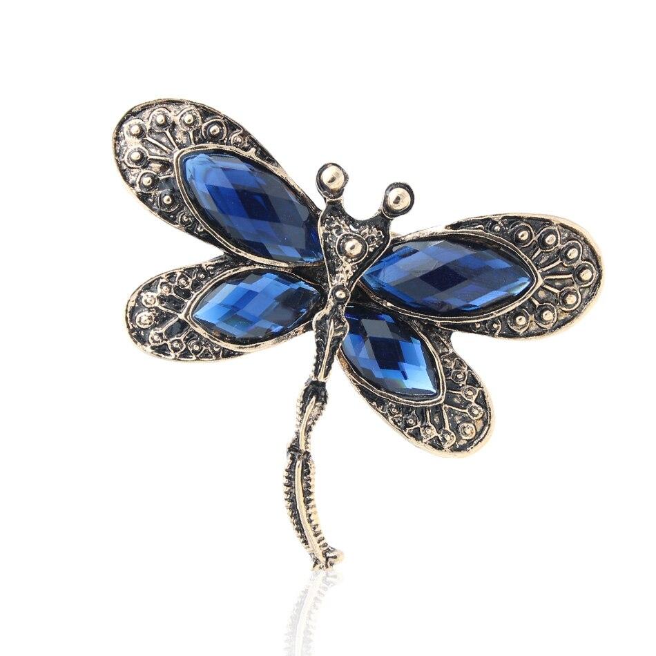 Nueva libélula broche Pasadores mujeres boda joyería de insectos ...