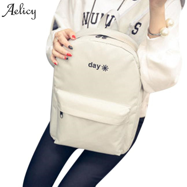 Aelicy bag for women 2019 Women Canvas Simple Embroidered Day And Night Shoulder Bag Backpack mochila feminina mochila masculinaAelicy bag for women 2019 Women Canvas Simple Embroidered Day And Night Shoulder Bag Backpack mochila feminina mochila masculina