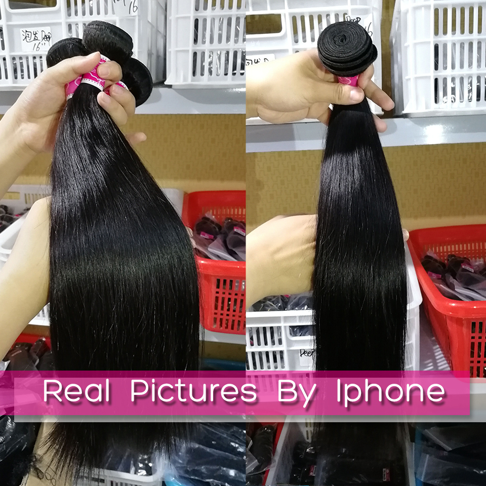 FABC  Straight Hair  Bundles 8-28 inches 100%  s Non-remy Double Weft 1/3/4Bundles Nature Color 6