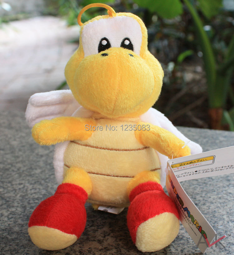 New Super Mario Bros  Musasabi Flying  Yellow Youshi Mario Plush Toy Doll 16CM