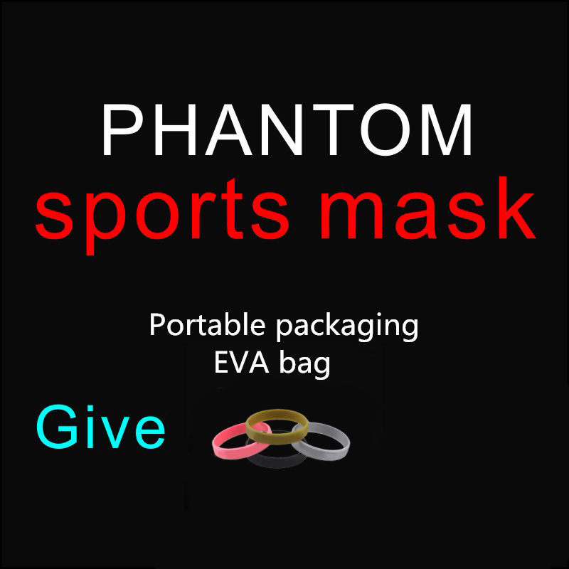 Drop Shipping Hot Sale Good Quality Men Women Phantom Portable Packing Style Sport Outdoor Mask With EVA Bag And Mask phantom sport mask s m l sizes 5 different colors for choose training sport mask unisex use mask free shipping