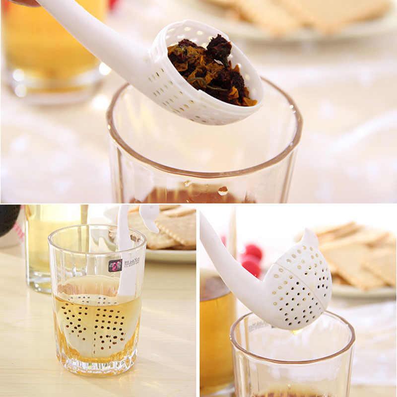 2 colores Infusor de té Swan filtro para té en hebras hierbas aromáticas filtro difusor de cocina Gadgets filtro de café Drinkware accesorios #30