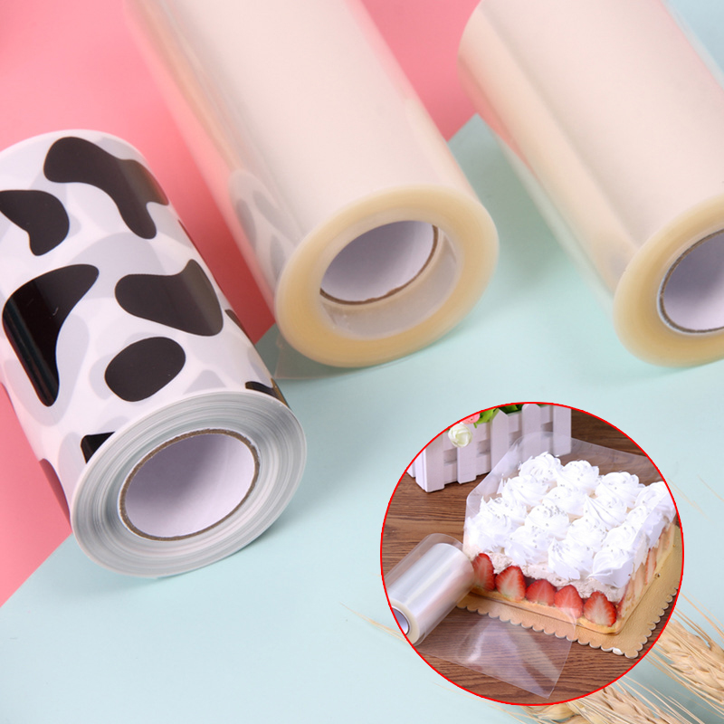 Clear Mousse Surrounding Edge Wrapping Tape For Baking Cake Collar Roll Package