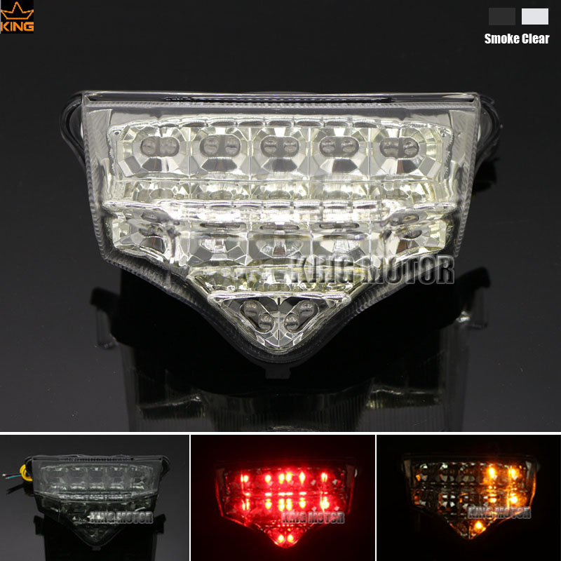 Motorcycler Accessories Integrated LED Tail Light Turn signal Blinker For YAMAHA FZ6 FAZER 2004-2008 Clear aftermarket free shipping motorcycle parts led tail brake light turn signals for yamaha 2004 2009 fz6 fazer 600 clear