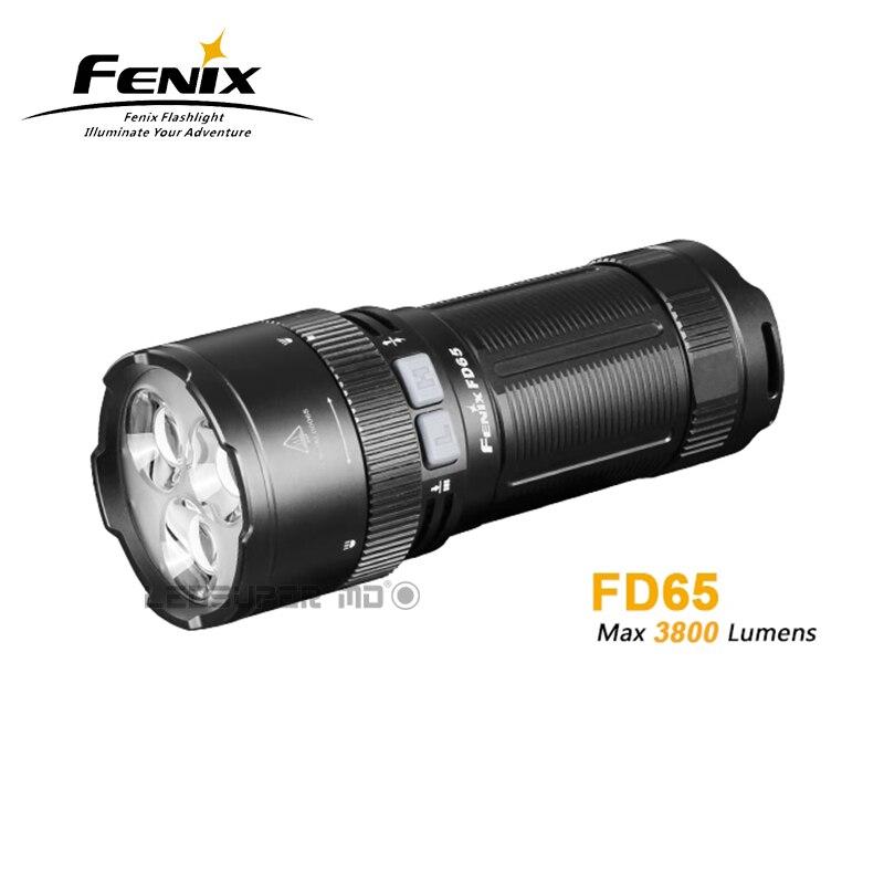 Nouvelle arrivée Fenix FD65 Cree XHP35 SALUT Led 3800 Lumens Haute-performance Rotatif En Se Concentrant lampe de Poche avec le Projecteur et Projecteur