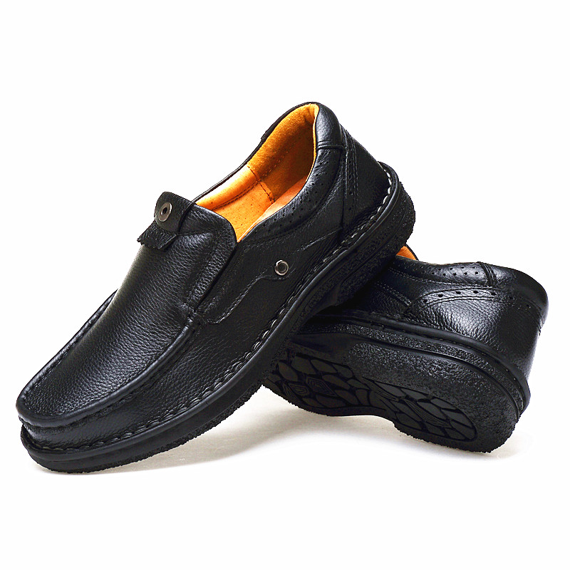 ФОТО Male business casual leather soft outsole shoes genuine leather plus size plus size shoes 45 46 47 48 free shipping