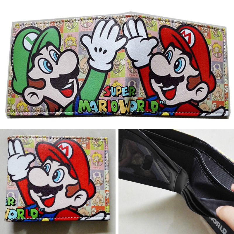 2018 Nintendo SUPER MARIO BROS. Bifold wallets Purse Multi 12cm Leather W350