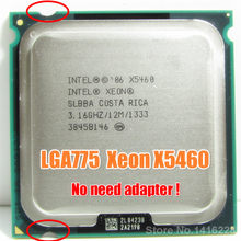 Intel Xeon X5460 Processor 3.16GHz 12MB 1333MHz cpu works on LGA 775 motherboard(China)