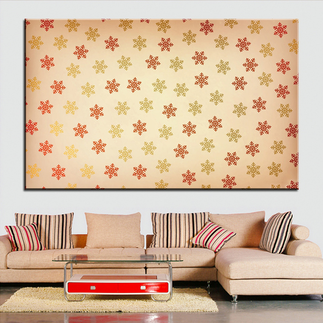 Large size Printing Oil Painting snowflakes pattern Wall painting ...