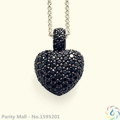 Colar de coração preto Thomas estilo Glam e alma bom jóias para as mulheres 2015 Ts presente em prata banhado a