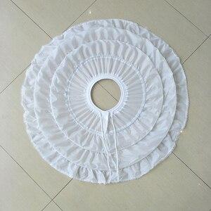 Image 2 - White 3 Hoops Wedding Petticoats for Short Dress Ballet Skirt Girls Crinoline Elastic Adjustable Waist Underskirt Jupon Court