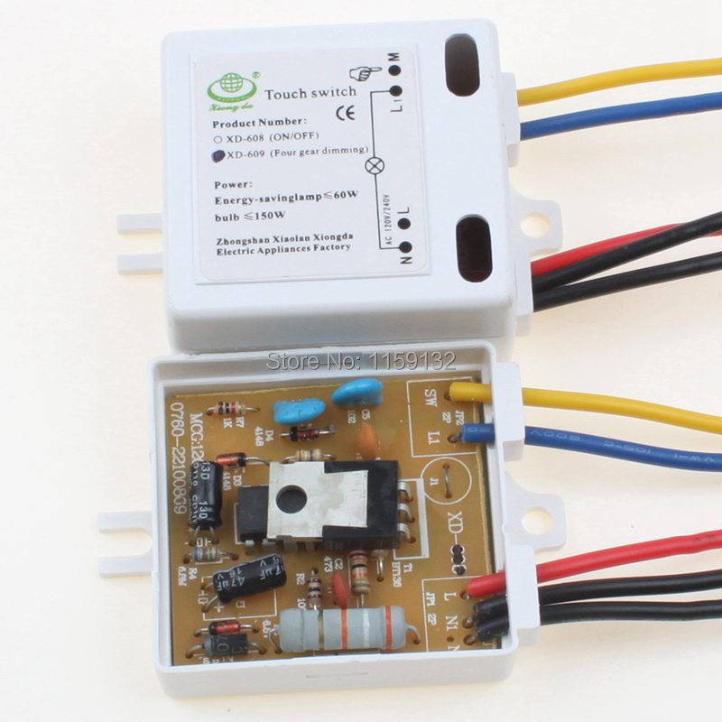 2pcs 220V 200W XD 609 LED Lamp On/Off Touch Switch Sensor-in ...