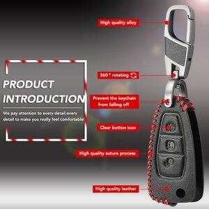 Image 3 - Yeni Tasarım Deri Araba Uzaktan Anahtar Fob Kabuk Kapak ford kılıfı Ranger C Max S Max Odak Galaxy Mondeo transit Tourneo Özel