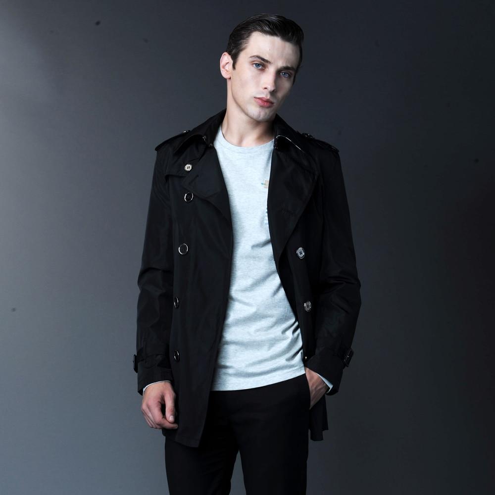 Online Shop 2014 New fashion Short Men's trench coat men's double ...