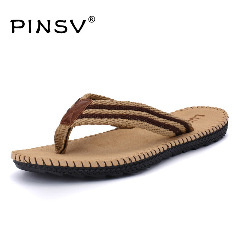 цены  4 Colours Beach Sandals Men Shoes Summer Slippers Flip Flops Men Sandals Big Size 45 Sandalias Hombre Chausson Homme PINSV