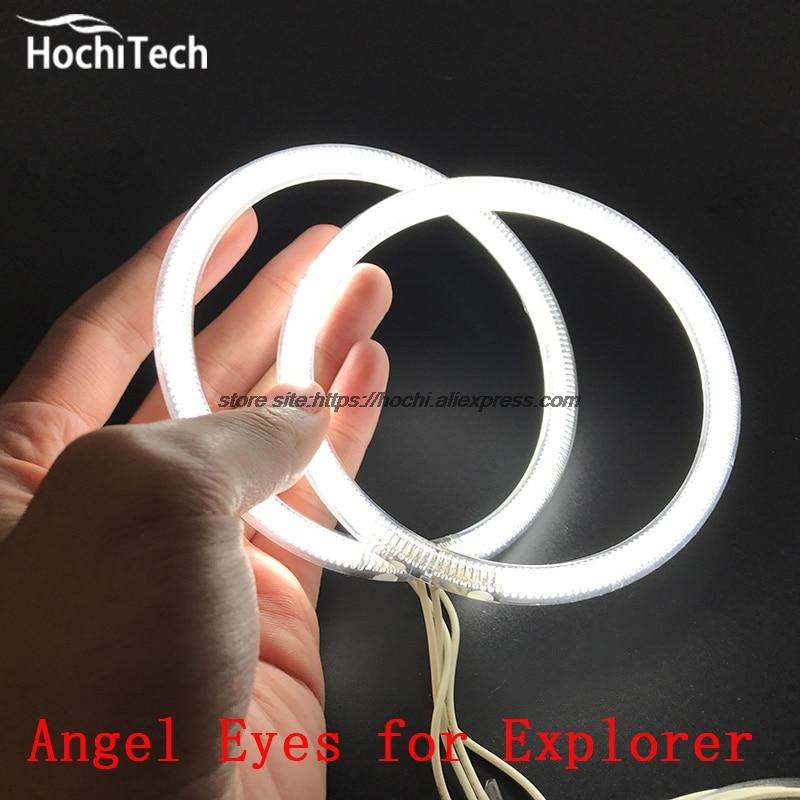 HochiTech WHITE 6000K CCFL Headlight Halo Angel Demon Eyes Kit angel eyes light for Ford Explorer 2011 2012 2013 2014 2015 hochitech white 6000k ccfl headlight halo angel demon eyes kit angel eyes light for chevrolet epica magnus 2000 to 2005