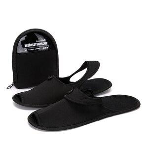 Image 2 - Осенняя обувь, 2 пары, мужская повседневная обувь, дышащие домашние тапочки, обувь для пар, для отеля, для деловых поездок, складные мюли