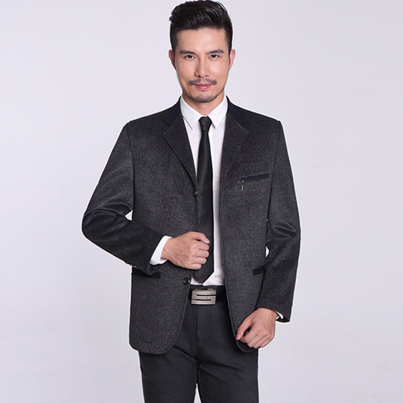 Blazer Men New Sping Fashion Brand  Blazer Men Jacket Splice Slim Fit Suits Two Button Mens Jackets