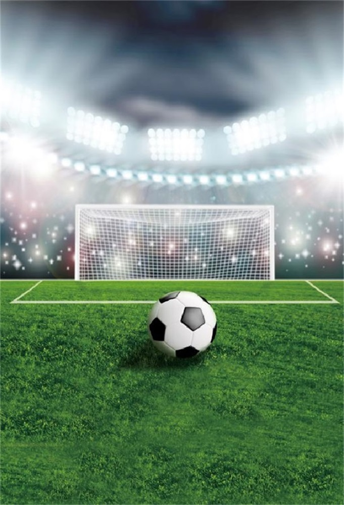Laeacco Football Game Scenic Light Bokeh Grassland Baby Children Photography Backgrounds Photographic Backdrops For Photo Studio