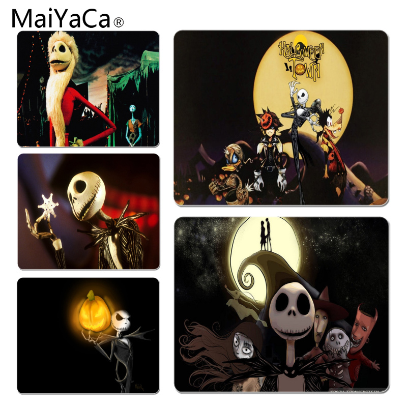 MaiYaCa Nightmare Before Halloween Customized laptop Gaming mouse pad Size for 25X29cm Gaming Mousepads