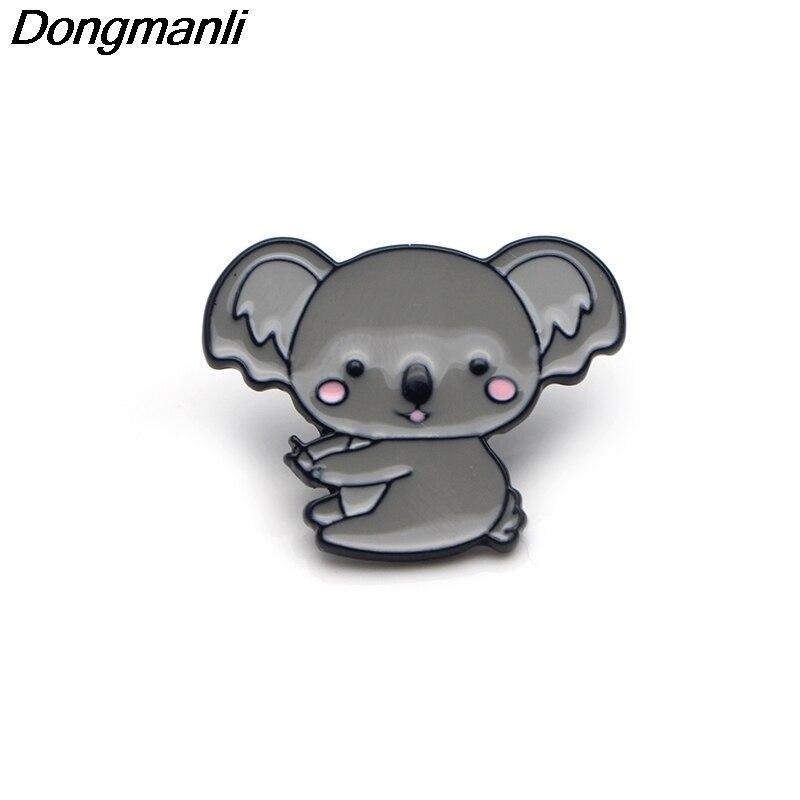 P3362 gros 20 pcs/lot mignon Koala métal émail broches et broches pour femmes hommes épinglette sac à dos sacs chapeau badge cadeaux