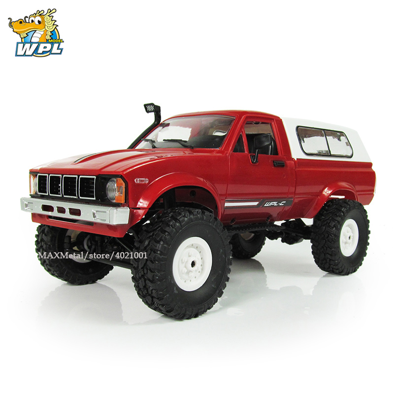 WPL C24 Radio Controlled Cars Off Road RC Car 1:16 RC Crawler Military Truck Electric Car Machine Truck 4WD Battery Power Car