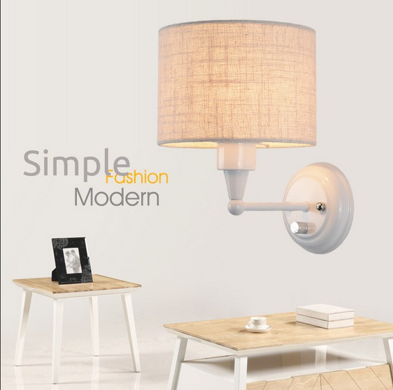 Simple Creative Fabric With Switch Wall Sconce Modern Wall Light Fixtures For Bedroom Wall Lamp Home Lighting Lampara Pared simple creative fabric wall sconce band switch modern led wall light fixtures for bedside wall lamp home lighting lampara pared