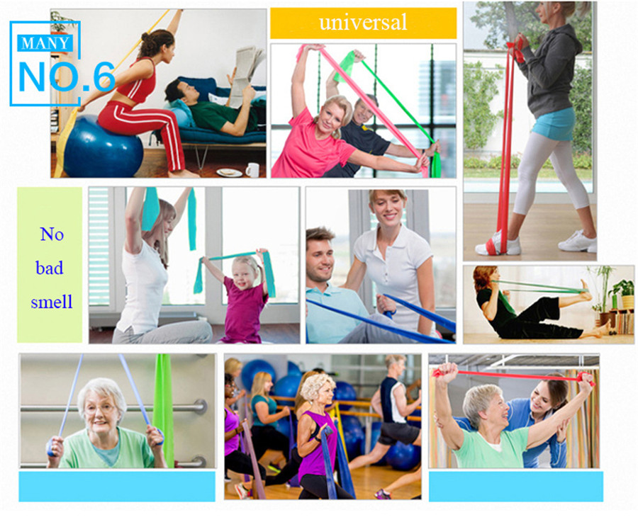 Fitness Elastic Band Indoor Pilates Rubber Resistance Bands Yoga Ribbon (5)