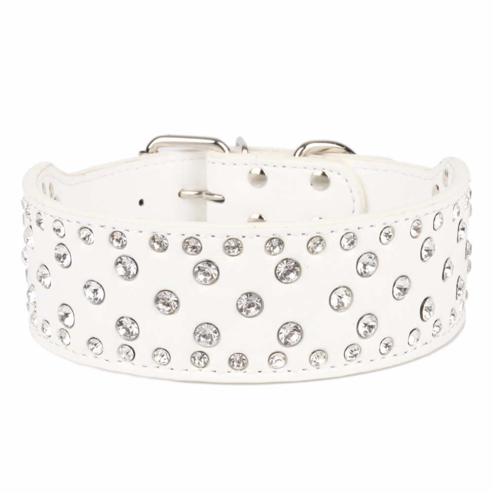 Large Dogs Collars Rhinestone Accessories Pets Product