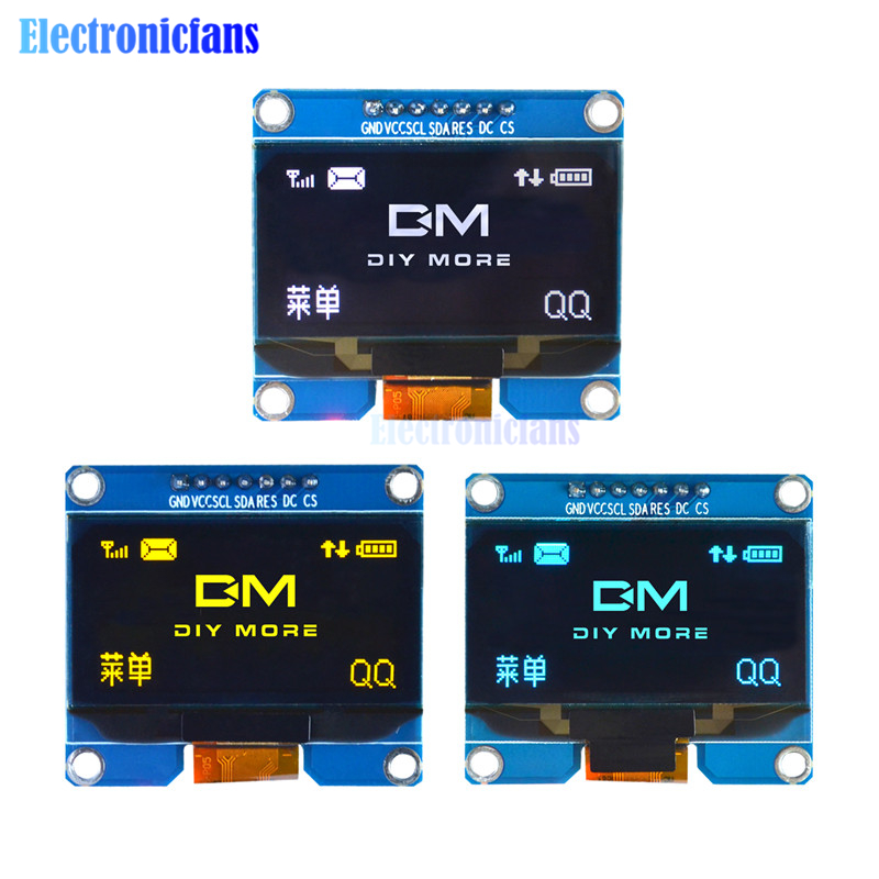 SPD0301 1.54 Inch OLED Display Module 7PIN SPI IIC Serial LCD Screen Board GND VCC SCL SDA 1.54'' For Arduino