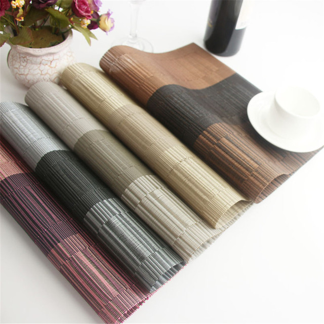 LIYIMENG 4Pcs/lot Dinner Placemat Pvc Dining Table Mat Disc Pads Bowl Pad  Coasters Waterproof