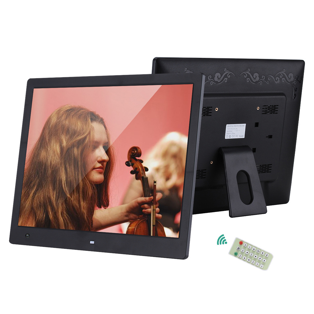 16 Digital Picture Frame 1600 1200 High Resolution Wide Screen Digital Photo Frame w Remote Control