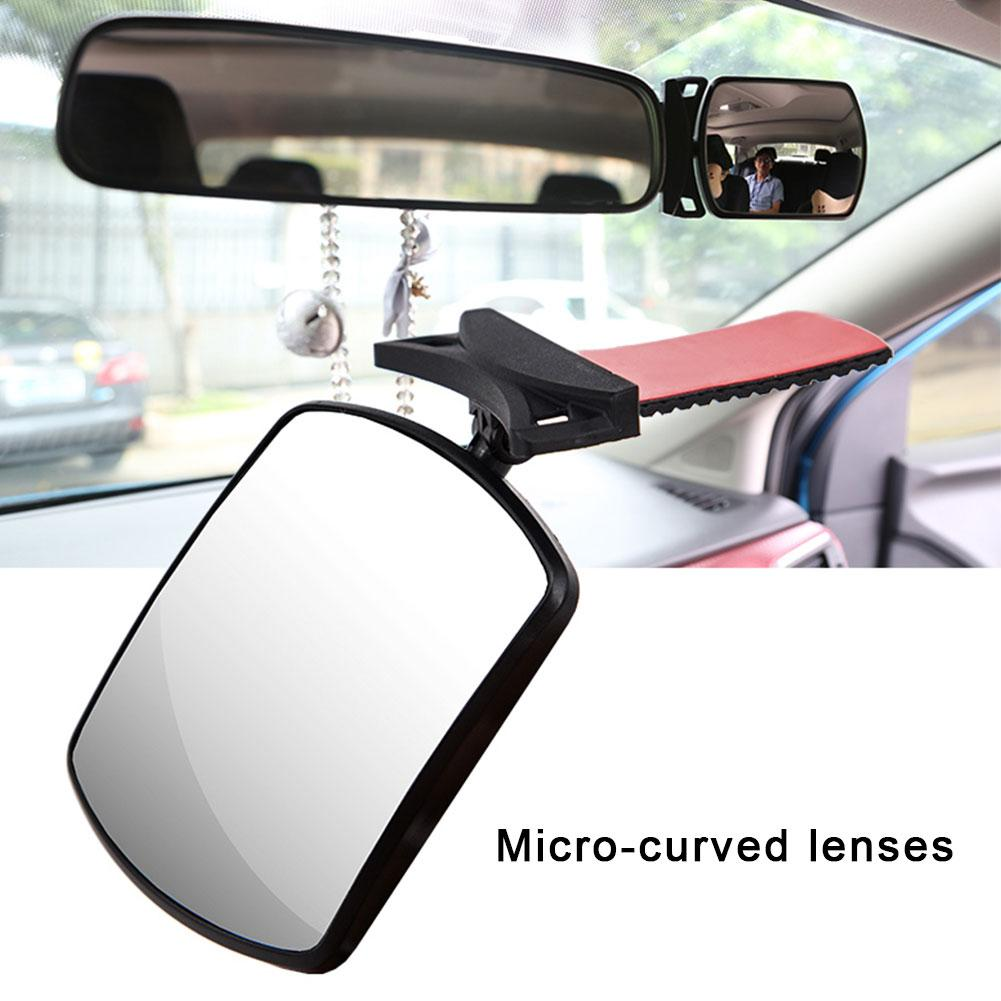 Ocamo 1 Pair Universal Car Auto Wide Angle Side Rearview Adjustable Blind Spot Mirror fan shape