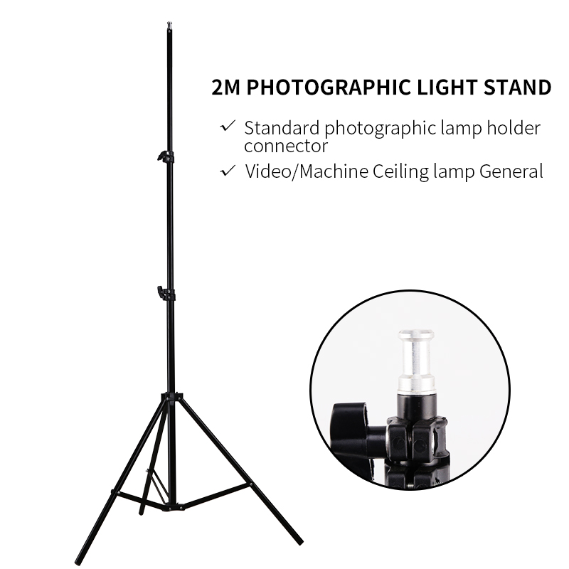 Photo 2M(79in) Light Stand Tripod For Photo Studio Softbox Video Flash Umbrellas Reflector Lighting Background Stand