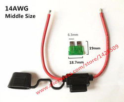 5 pcs 14 awg medium car fuse holder water resistant waterproof automotive fuse holder with cover.jpg 250x250