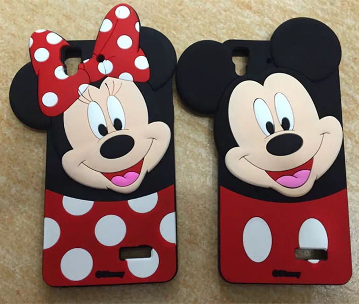 New Cute Cartoon Mickey Minnie Mouse Soft Silicon Mobile
