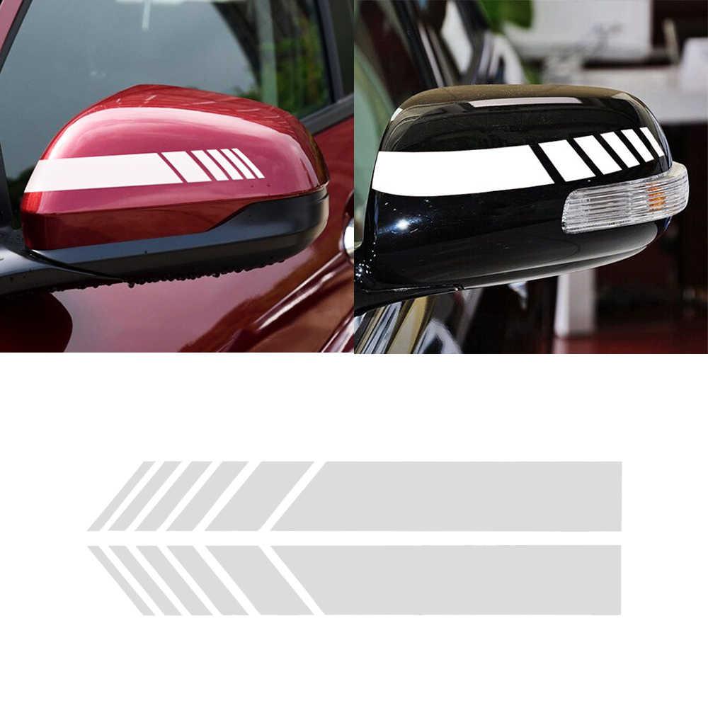 車のスタイリングバックミラーストライプステッカーの装飾のアクセサリールノーメガーヌ 2 3 起亜リオ ceed で三菱ランサー