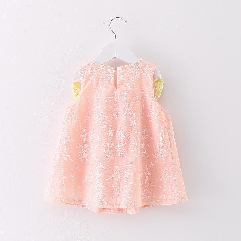 HTB1pmjRkruWBuNjSszgq6z8jVXaD - 2018 New Brand Princess Dress Sleeveless Cotton Kids Dresses For Girls Bow Children Toddler Girl Dresses