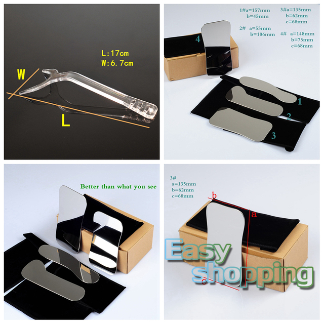 4 * Espelho fotografia Intraoral Dental Clínica + 2 * Retractor Cheek Lip Boca Abridor