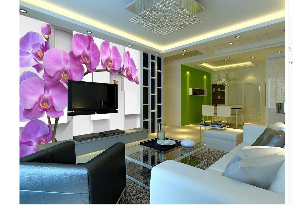 custom photo wallpaper 3d Phalaenopsis wallpapers for living room custom photo wallpaper Home Decoration image